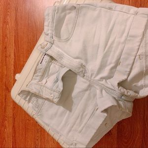 American apparel white shorts jeans